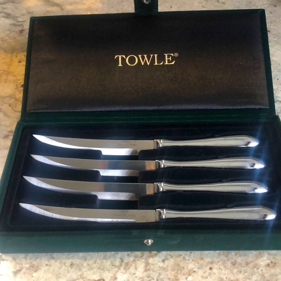 Towle Stainless Steel Steak Knives and Case
